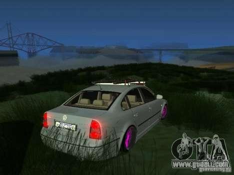 VW Passat B5 Dope for GTA San Andreas back left view