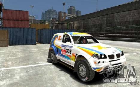 BMW X3 CC DAKAR for GTA 4 back view