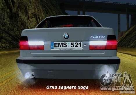 BMW E34 540i Tunable for GTA San Andreas wheels