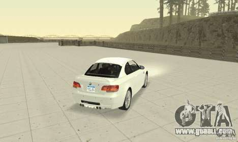 BMW M3 2008 Convertible Hamann for GTA San Andreas left view