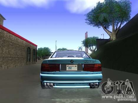 BMW 850CSi 1995 for GTA San Andreas back view