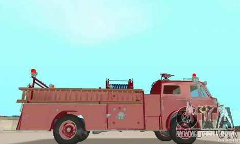 American LaFrance Pumper 1960 for GTA San Andreas back view