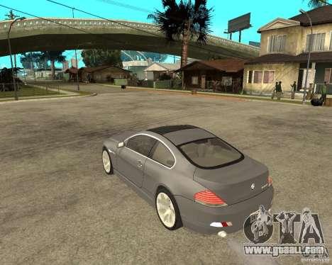 BMW 645Ci 04 for GTA San Andreas