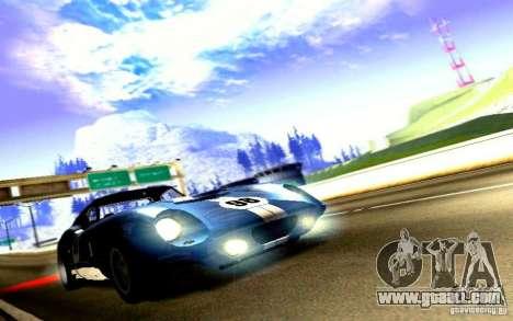 Shelby Cobra Daytona Coupe v 1.0 for GTA San Andreas back left view