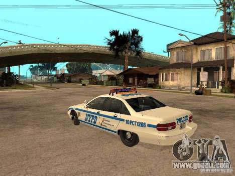 NYPD Chevrolet Caprice Marked Cruiser for GTA San Andreas left view
