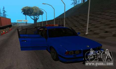 BMW M5 POLICE for GTA San Andreas inner view