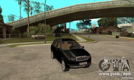 Skoda Fabia Combi for GTA San Andreas back view