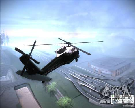 Sikorsky VH-60N Whitehawk for GTA San Andreas right view