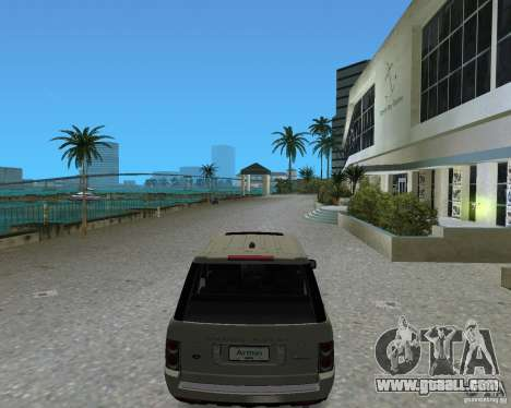 Rang Rover 2010 for GTA Vice City back left view