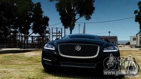 Jaguar XJ 2012 for GTA 4 back view