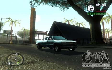 Chevrolet Silverado 2000 for GTA San Andreas right view