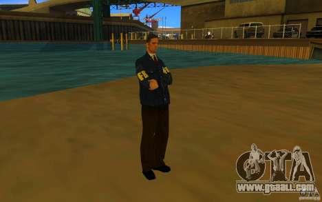 HQ skin FBI for GTA San Andreas third screenshot