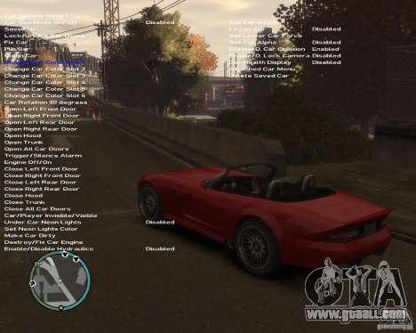 Simple Native Trainer v6.4 for GTA 4