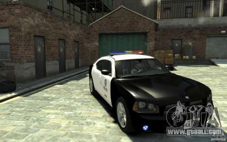 Dodge Charger LAPD V1.6 for GTA 4 back view