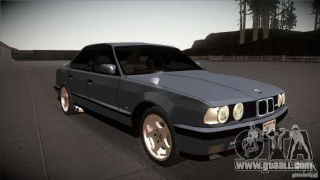 BMW M5 E34 1990 for GTA San Andreas back view
