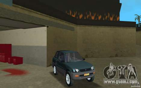 Toyota RAV4 for GTA Vice City back view