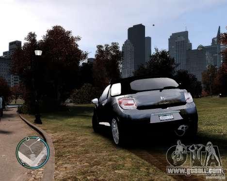 Citroen DS3 2011 for GTA 4 left view