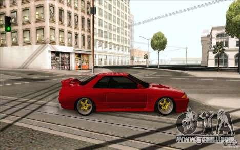 Nissan Skyline GTR-32 StanceWork for GTA San Andreas back left view