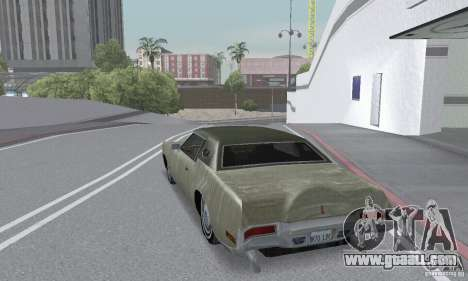 Lincoln Continental Mark IV 1972 for GTA San Andreas bottom view