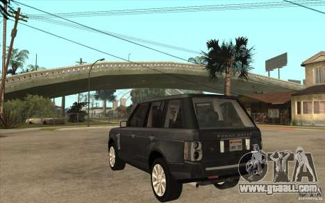 Range Rover Supercharged 2008 for GTA San Andreas back left view