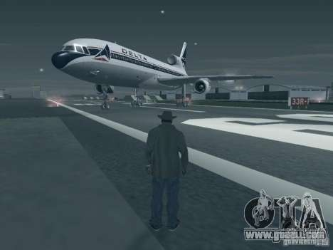 L1011 Tristar Delta Airlines for GTA San Andreas left view