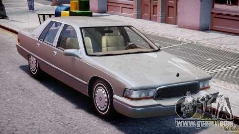 Buick Roadmaster Sedan 1996 v 2.0 for GTA 4 bottom view