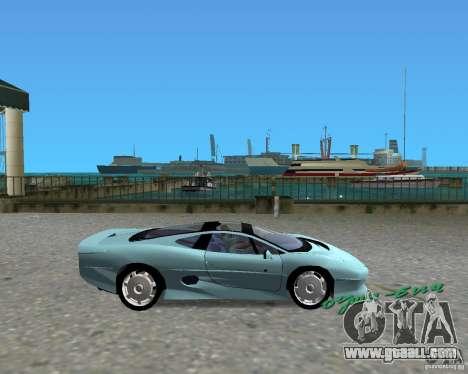 Jaguar XJ220 for GTA Vice City back left view
