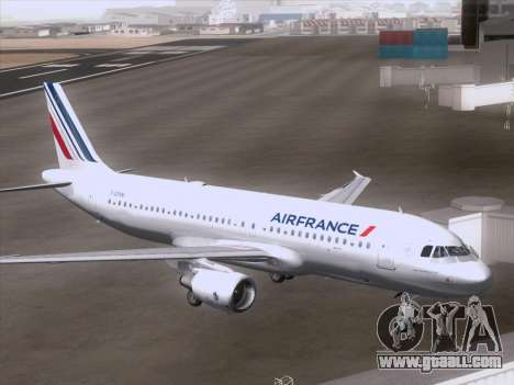 Airbus A320-211 Air France for GTA San Andreas right view