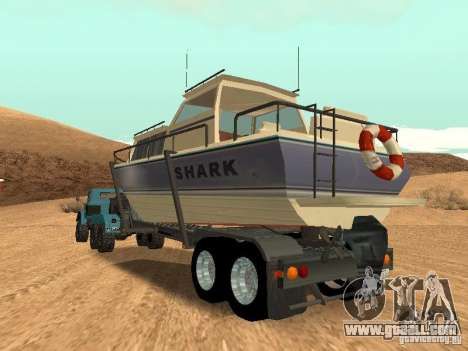 Boat Trailer for GTA San Andreas inner view