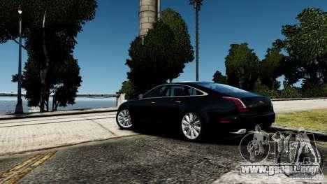 Jaguar XJ 2012 for GTA 4 back left view