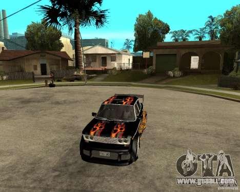 VAZ 2106 GTX tune for GTA San Andreas inner view