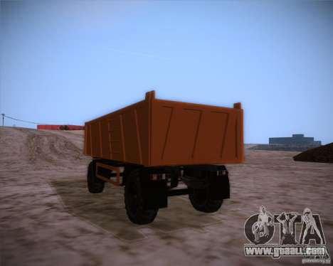 Trailer for MAZ 6317 for GTA San Andreas left view