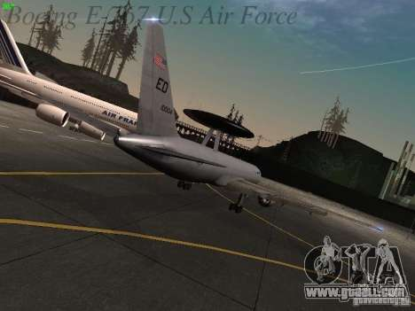 Boeing E-767 U.S Air Force for GTA San Andreas back view