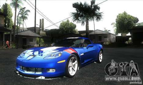 Chevrolet Corvette Grand Sport 2010 for GTA San Andreas bottom view