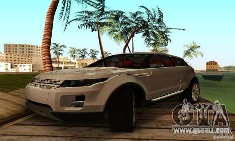 Land Rover Range Rover Evoque for GTA San Andreas left view