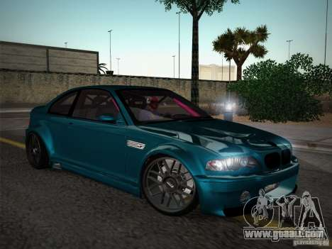 BMW E46 Drift II for GTA San Andreas inner view
