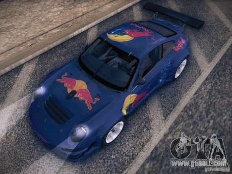 Porsche 997 GT3 RSR for GTA San Andreas upper view