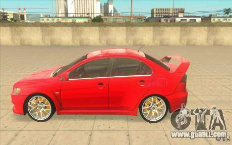 Mitsubishi Lancer Evolution X MR1 for GTA San Andreas left view