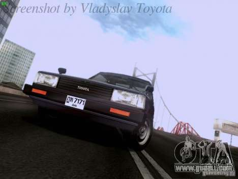 Toyota Corolla TE71 Coupe for GTA San Andreas back view