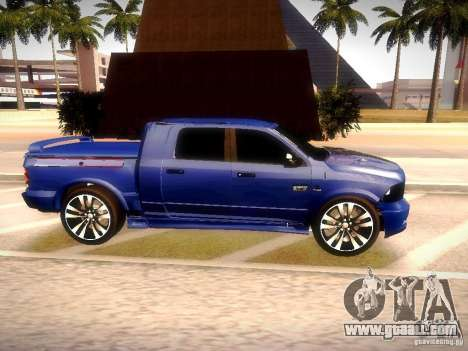 Dodge Ram R/T 2011 for GTA San Andreas right view
