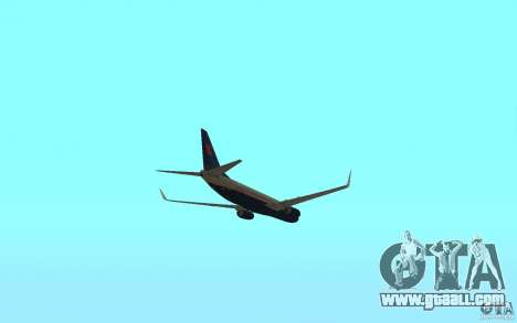 Boeing 737-800 for GTA San Andreas inner view