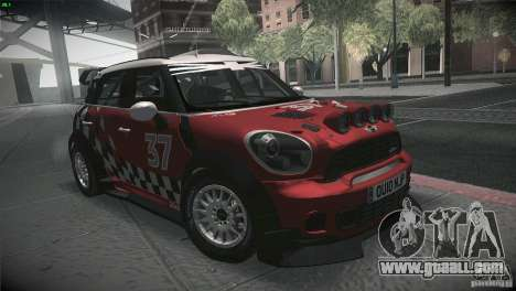 Mini Countryman WRC for GTA San Andreas back view