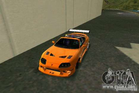 Toyota Supra Fast and the Furious for GTA Vice City left view