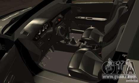 Mitsubishi Lancer Evo VIII MR Police for GTA San Andreas back view