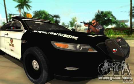 Ford Taurus 2011 LAPD Police for GTA San Andreas bottom view