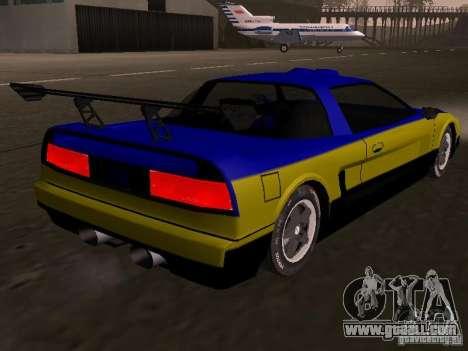 Infernus v 1.2 for GTA San Andreas left view