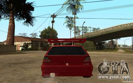 Volkswagen Golf 2 GTI Tuned for GTA San Andreas back left view