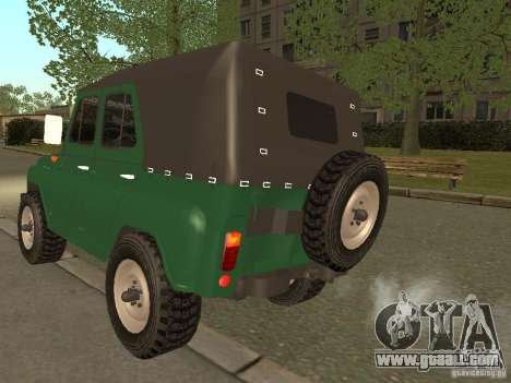 UAZ 469 for GTA San Andreas back left view