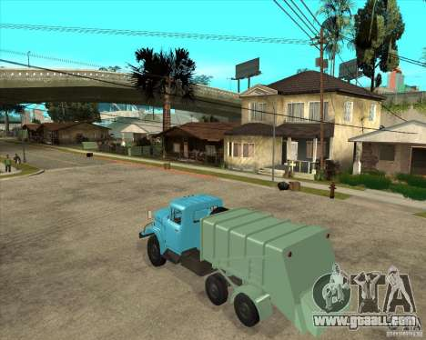 ZIL 131 garbage truck for GTA San Andreas left view