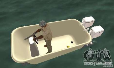 Bathtub Dinghy for GTA San Andreas